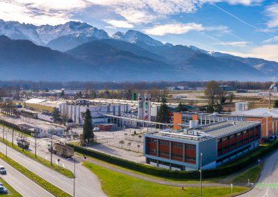Photographie aérienne de l'entreprise Teisseire - Crolles 38