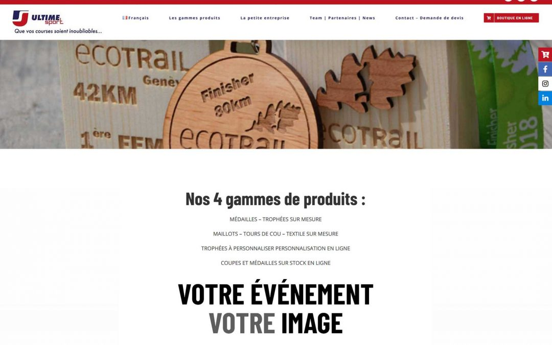 Site Internet sur mesure : Ultime Sport